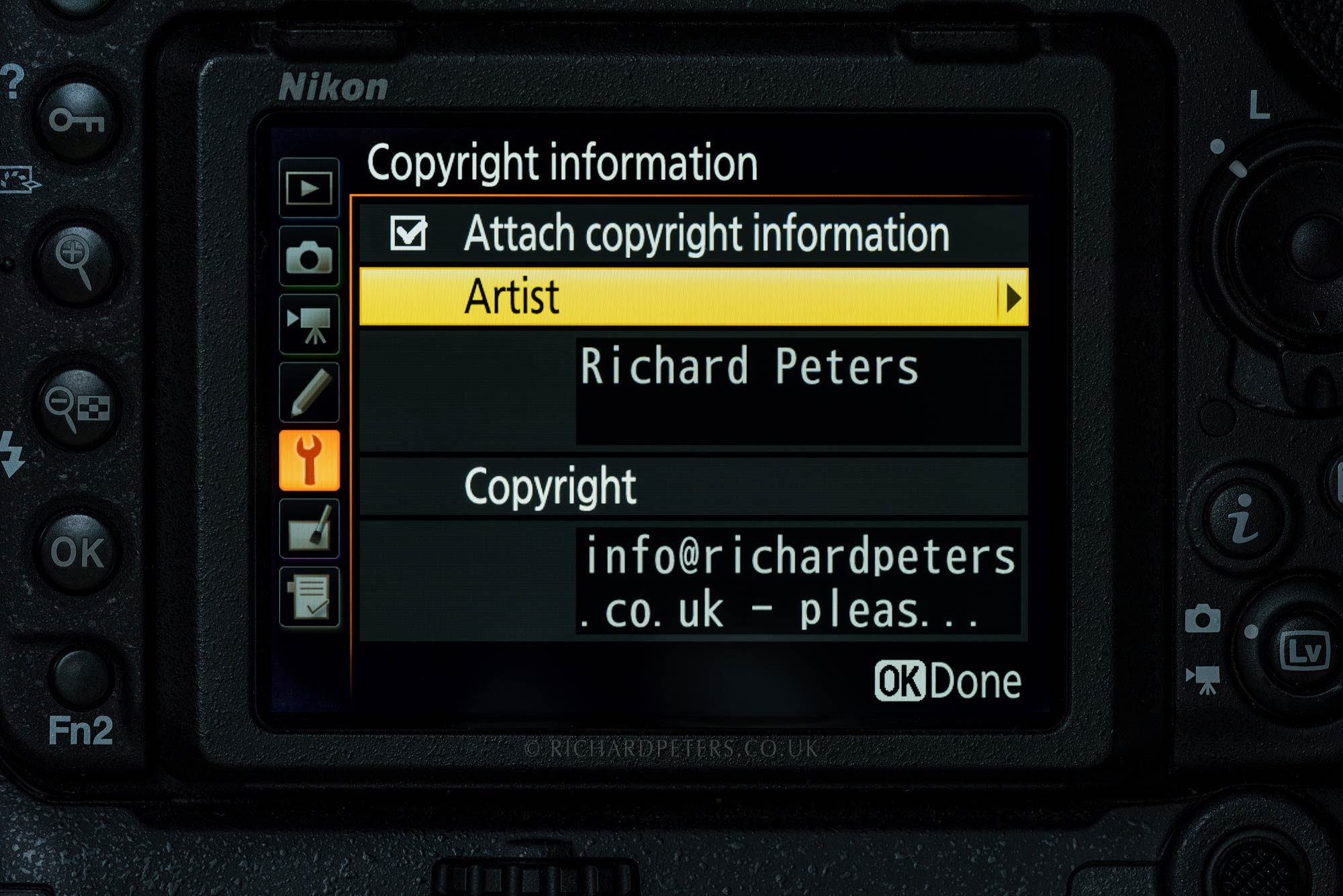 Add copyright info to your photos EXIF | Richard Peters Wildlife