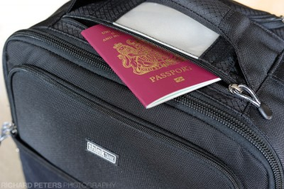 Passport Pocket for easy access of your travel documents. ThinkTank Photo Aiport International v2.0