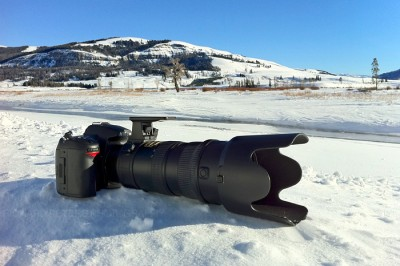 Even in the biting cold of Yellowstone, the D7000 didn't miss a beat