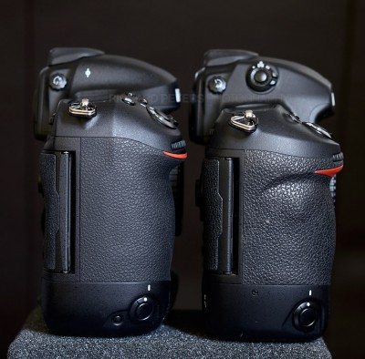 The Nikon D4 and D3s, side by side