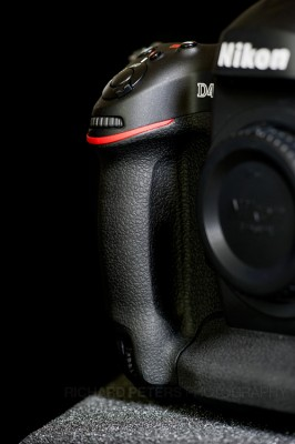 The Nikon D4 front grip, features subtle contour changes