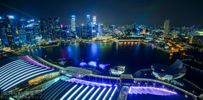Singapore, viewed from Marina Bay Sands