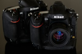 The Nikon D4s and older D4, side by side