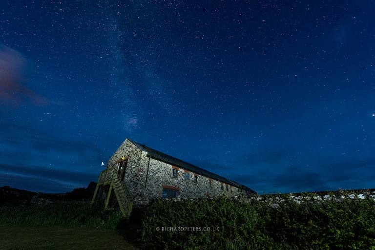 Sensational Skomer night sky